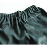 シニアファッションメンズの暖かいズボン、後ろポケット付きタイプ