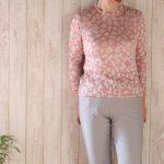 肌当たりのやわらかいジャカードカットソー | シニアファッションのTCマート