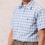 でこぼこした素材が涼しい、しじら織り半袖シャツ
