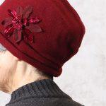 70代80代のシニア女性に似合うエレガントなニット帽が再々入荷