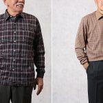 70代 80代男性の冬ファッションに人気のニットシャツ