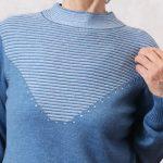 おしゃれに暖かく!ウール100%でもチクチクしないニットセーター【70代80代ファッション】