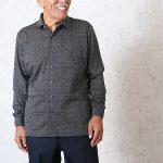 70代80代のシニアファッション メンズ秋におすすめニットシャツ