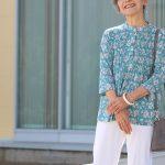 【シニアファッション コーディネート】春の新作ブラウスをつかったコーディネート