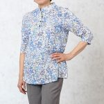 【シニアファッション レディース】日本製の春色のお洒落なブラウス