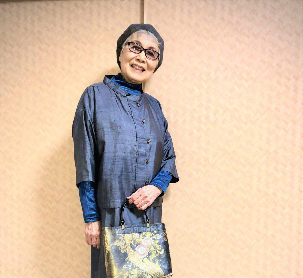 シニアファッションスナップ写真を撮影するシニアファッションブランドYOUKA(ヨウカ)