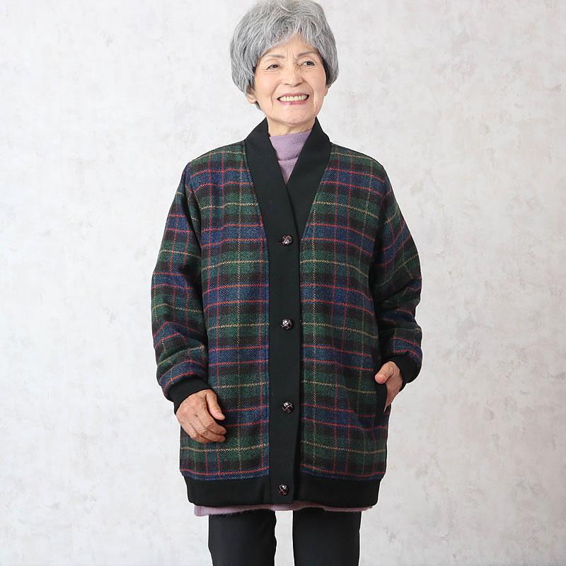 70代80代シニア女性に人気のあったかホームブルゾング(洋服)