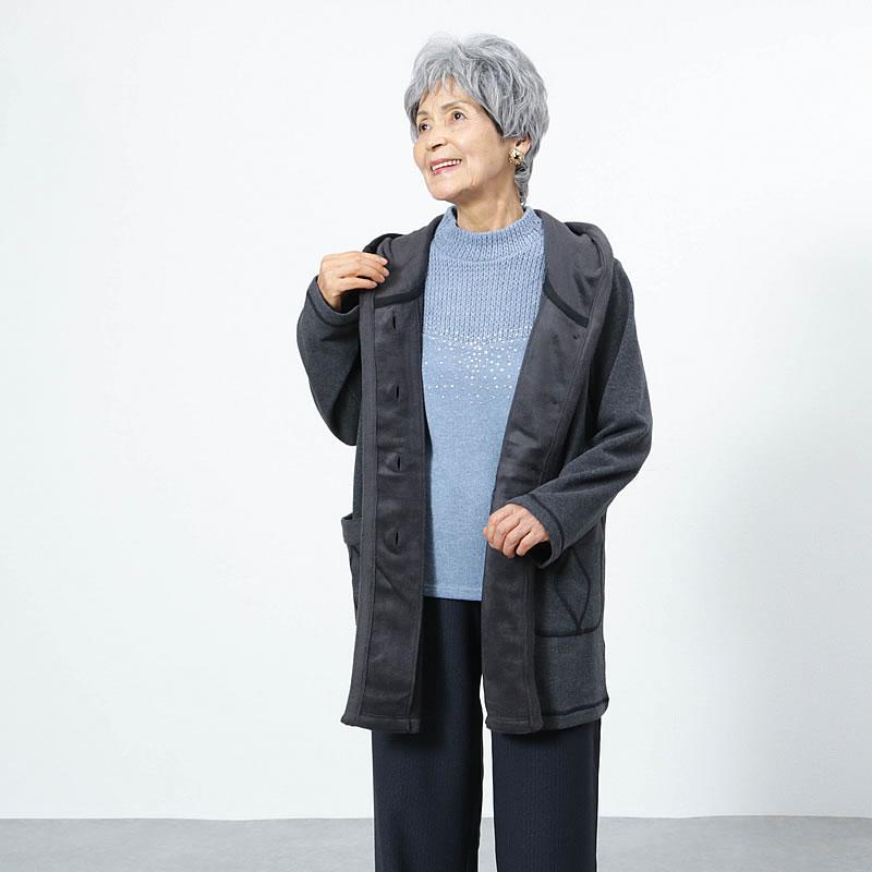 冬のアウターはコート派の70代80代の女性におすすめの暖かコート
