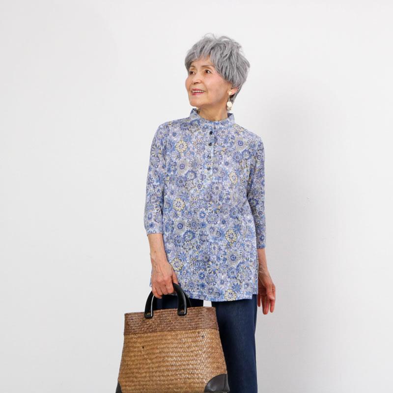 70代80代女性シニアファッション春夏ブラウス
